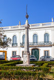 Der Pillory der Stadt von Nisa fand in der Stadtmitte Stockfoto