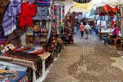 Der Pisac-Markt in Peru stockbilder