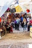 Der Pisac-Markt in Peru stockfotografie