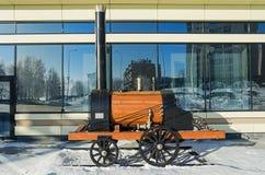 Der Plan der ersten russischen Dampflokomotive Lizenzfreies Stockfoto