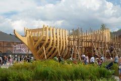 Der Plan des Schiffs hergestellt vom Holz Stockfotos