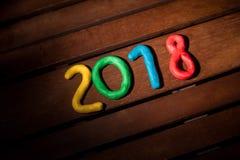 Der Plan der Zahlen für das folgende neue Jahr Lizenzfreies Stockbild