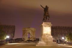 Der Platz du Peyrou in Montpellier, Frankreich Lizenzfreie Stockbilder