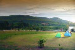 Der Platz für Zelte stockfotos