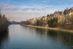 Der Po, Turin Italien lizenzfreie stockfotografie