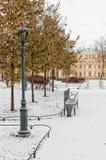 Der polnische Garten und der Derzhavin-` s Landsitz in St Petersburg Lizenzfreie Stockfotos