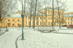 Der polnische Garten und der Derzhavin-` s Landsitz in St Petersburg Stockfoto