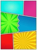 Der Pop-Arten-Art der hohen Qualität Retro- Plakatschablone, Comic-Buch-Bucheinband-Seitenspott oben vektor abbildung