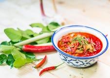 Der populärste rote Curry Stockfotografie