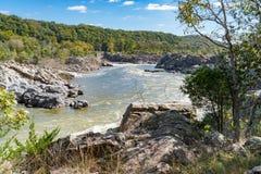 Der Potomac entlang Great Falls, Virginia stockfotos