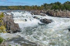 Der Potomac entlang Great Falls, Virginia lizenzfreies stockbild