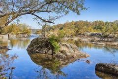 Der Potomac im Herbst Lizenzfreies Stockbild