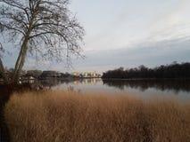 Der Potomac und Kennedy Center im Washington DC stockfotografie