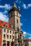 Der Praguer astronomische Glockenturm Stockbild