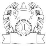 Der Preis. 1. Stellung. lizenzfreie abbildung