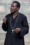 Der Priester von der äthiopischen orthodoxen Kirche Lizenzfreie Stockfotografie