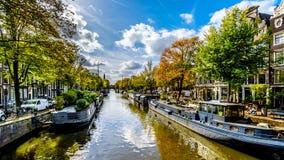 Der Prinsengracht Prinz Canal in Amsterdam in Holland stockfotos