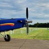 Der Propeller eines Flugzeuges Stockbild