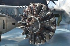 Der Propeller eines Weltkriegflugzeuges Stockfotografie
