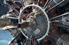 Der Propeller eines Weltkriegflugzeuges Stockbild