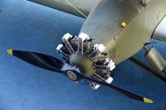 Der Propeller eines Weltkriegflugzeuges Lizenzfreies Stockbild