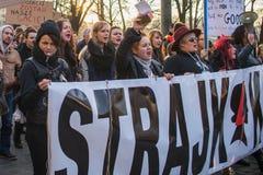 Der Protest der Frauen Stockfotografie