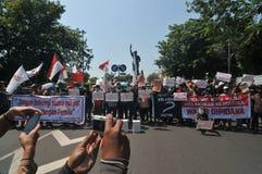 Der Protest von Indonesien-Wahl Lizenzfreies Stockbild