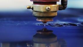 Der Prozess von Arbeits Laser-System, Industrie stock video footage