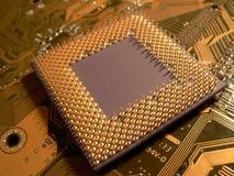Der Prozessorkopf über Fersen Stockfoto