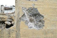 Der Punkt der Auswirkung eines Jackhammer im Stapel, der abhängig von Beseitigung ist Lizenzfreie Stockfotografie