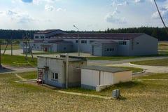 Der Punkt der Beerdigung des radioaktiven Abfalls vom Tschornobyl stockbilder