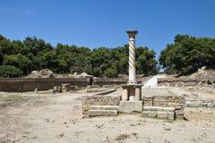 Der römische Amphitheatre von Karthago Stockbilder