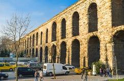 Der römische Aquädukt Lizenzfreies Stockfoto