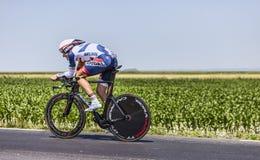 Der Radfahrer Adam Hansen Lizenzfreie Stockbilder