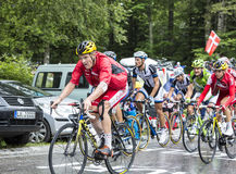 Der Radfahrer Adrien Petit Stockbild