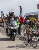 Der Radfahrer Alberto Contador auf Mont Ventoux Stockbild