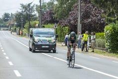 Der Radfahrer Alexandre Pichot Stockbild