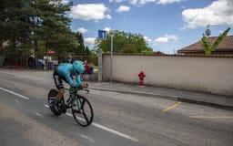 Der Radfahrer Alexey Lutsenko - Criterium du Dauphine 2017 Lizenzfreie Stockfotos