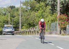 Der Radfahrer Andre Cardoso - Criterium du Dauphine 2017 Lizenzfreie Stockfotografie