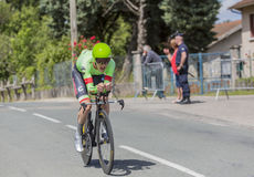 Der Radfahrer Andrew Talansky - Criterium du Dauphine 2017 Lizenzfreies Stockbild