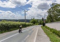 Der Radfahrer Antwan Tolhoek - Criterium du Dauphine 2017 Lizenzfreie Stockfotografie