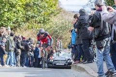 Der Radfahrer Ben Hermans - Paris-nettes 2016 Stockfotografie