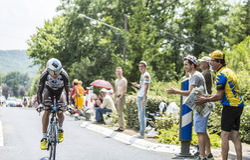 Der Radfahrer Blel Kadri - Tour de France 2015 Stockfotografie