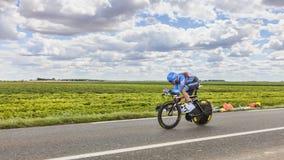 Der Radfahrer Christian Vande Velde Lizenzfreie Stockfotos