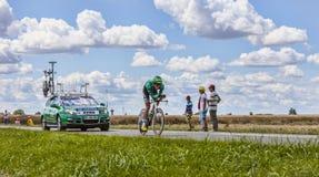 Der Radfahrer Christophe Kern Lizenzfreies Stockbild