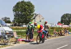 Der Radfahrer Christophe Le Mevel Lizenzfreie Stockfotografie