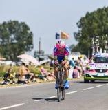 Der Radfahrer Damiano Cunego Lizenzfreies Stockfoto