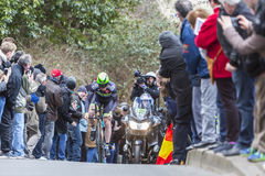 Der Radfahrer Daniel Mc Lay - Paris-nettes 2016 Stockfotos
