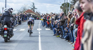 Der Radfahrer Daniel Mc Lay - Paris-nettes 2016 Lizenzfreies Stockbild