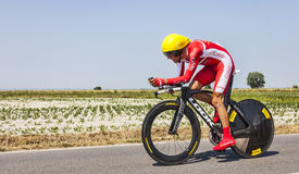 Der Radfahrer Daniel Navarro Garcia Stockbild